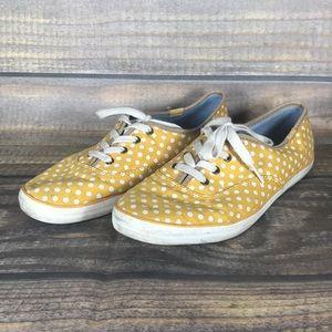 Polka Dot Yellow Keds